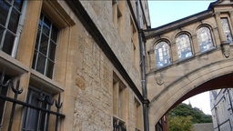 Hertford Bridge also known as Bridge of Sighs, Oxf Stock Video Footage
