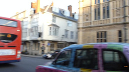OXFORD UNIVERDITY STREET SCENE 27 TAXI Stock Video Footage