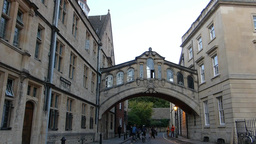 OXFORD UNIVERSITY STREET SCENE, HERTFORD BRIDGE Stock Video Footage