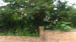 Passing a street of Oxford University by car, Oxfo Stock Video Footage