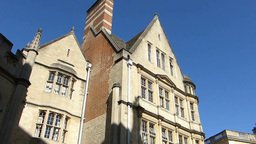 Old buildings in the streets of Oxford, UK. (OXFOR Stock Video Footage