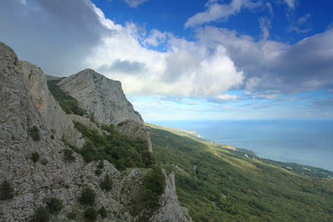 4K. Movement of the clouds on the mountain Merdven Stock Video Footage
