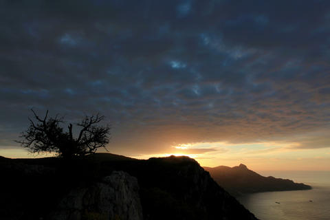 4K. Timelapse sunrise in the mountains bay Laspi Stock Video Footage