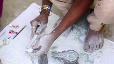 Stone carving Stock Video Footage