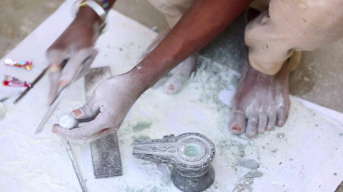 Stone carving Footage
