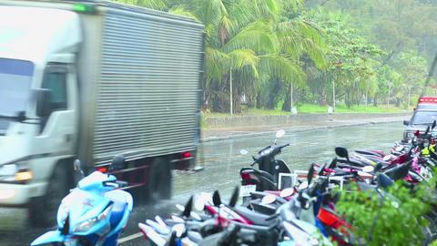 Rainy day on Phuket Stock Video Footage