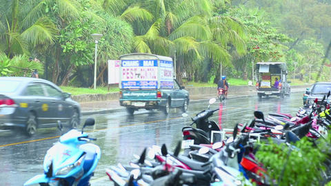 Rainy Day On Phuket stock footage