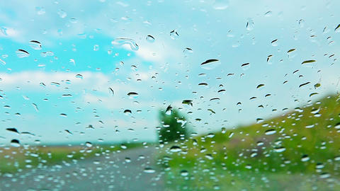 raindrops on glass Stock Video Footage