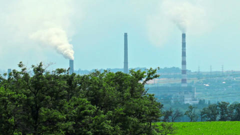 view of the industrial zone Stock Video Footage