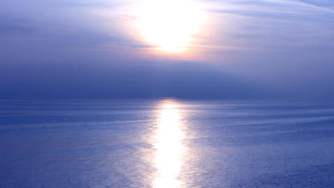 black sea blue sunset Stock Video Footage