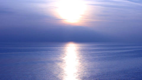 black sea blue sunset Stock Video Footage