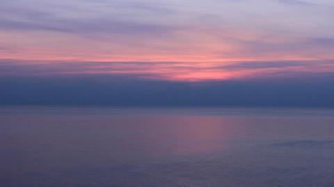 black sea purple sunset Stock Video Footage