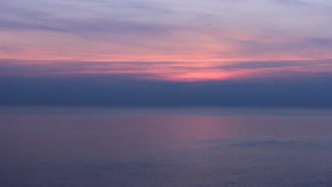 black sea purple sunset Footage