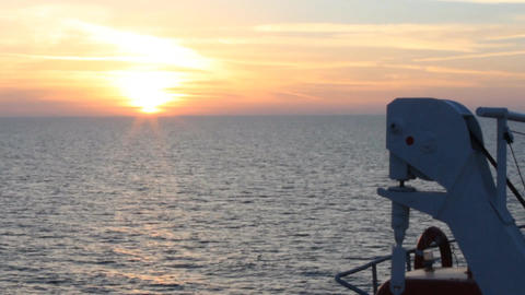 black sea ship sunset Stock Video Footage