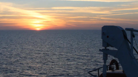 black sea ship sunset Footage