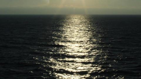 black sea sunlight Stock Video Footage