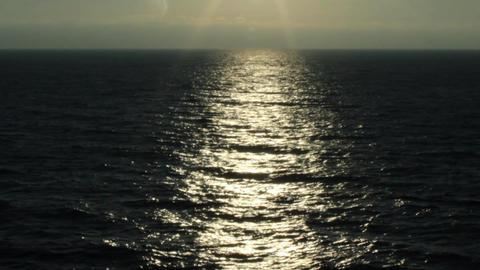 black sea sunlight Footage