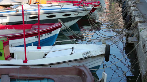 Boats and yachts Stock Video Footage