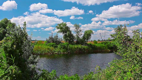 river landscape Stock Video Footage