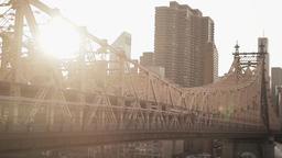 bridge city urban. skyline skyscrapers.new york Stock Video Footage