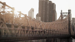 Bridge City Urban. Skyline Skyscrapers.new York stock footage