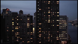 city at night. skyline skyscrapers.new york Stock Video Footage