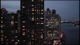 city at night. skyline skyscrapers.new york Stock Video Footage
