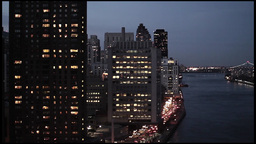 City At Night. Skyline Skyscrapers.new York stock footage
