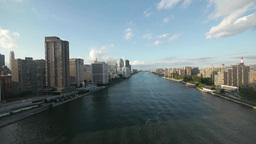 city aerial view. skyline skyscrapers.new york Stock Video Footage