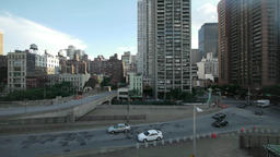 aerial view. urban. skyline skyscrapers.new york Stock Video Footage