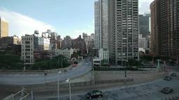 aerial view. urban. skyline skyscrapers.new york Stock Video Footage