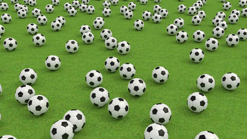 Soccer balls Stock Video Footage