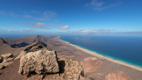 4k UHD time lapse panorama view fuerteventura 1118 Stock Video Footage