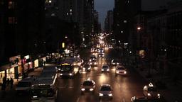 traffic transportation. city at night Stock Video Footage