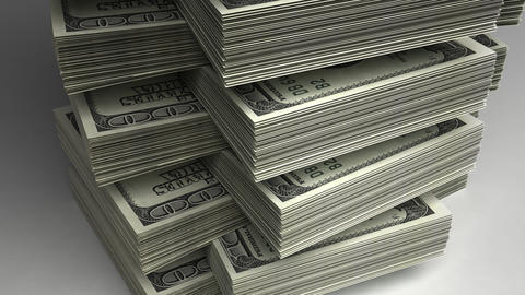 Stack of Dollar Stock Video Footage