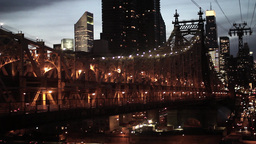 city at night. urban district new york Stock Video Footage