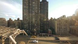 city urban traffic transportation. skyline Stock Video Footage
