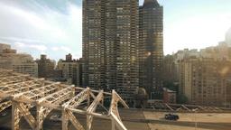 city urban traffic transportation. skyline Footage