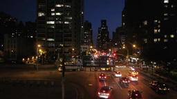 city traffic an night. skyline new york. nyc Stock Video Footage