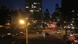 city traffic an night. skyline new york. nyc Footage