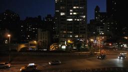 city traffic an night. skyline new york. nyc Stock Video Footage