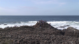 Giant 's Causeway Stock Video Footage
