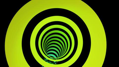 rainbow ring tunnel Stock Video Footage