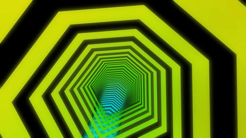 hexagon colorful tunnel Stock Video Footage