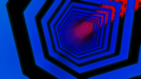 hexagon colorful tunnel Animation
