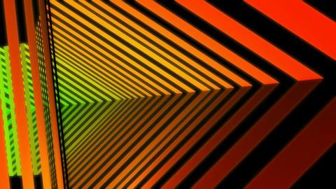 rainbow stripes tunnel Stock Video Footage
