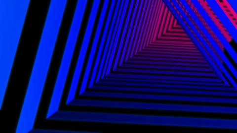 rainbow stripes tunnel Animation