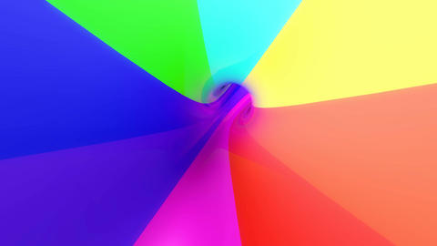 colorful umbrella tunnel Animation