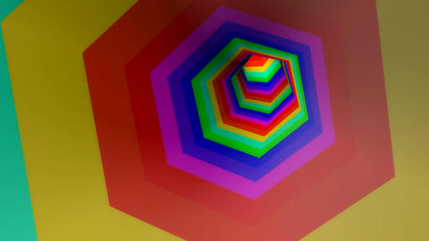 hexagonal stripe colors Animation