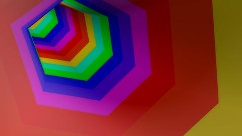 hexagonal stripe colors Stock Video Footage